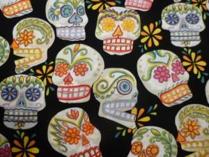 Sugar skulls cushion cover