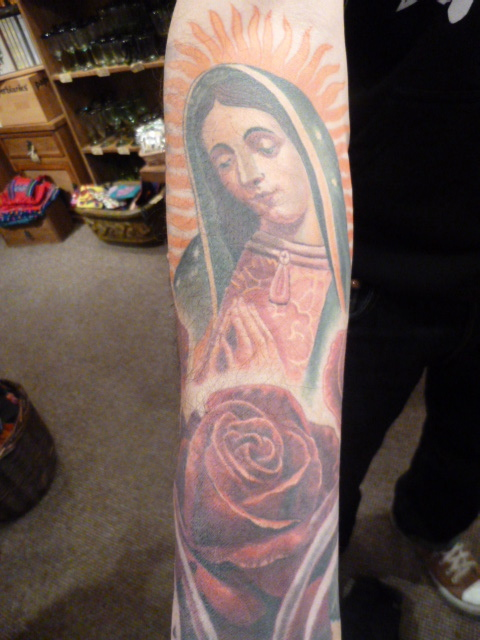The Virgin of Guadalupe tattoo