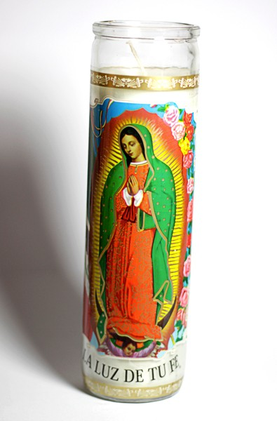Virgin of Guadelupe candle