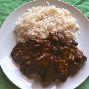 Beef Mole with rice