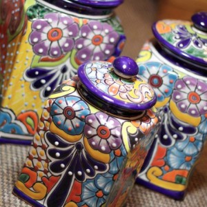 Talavera storage jars