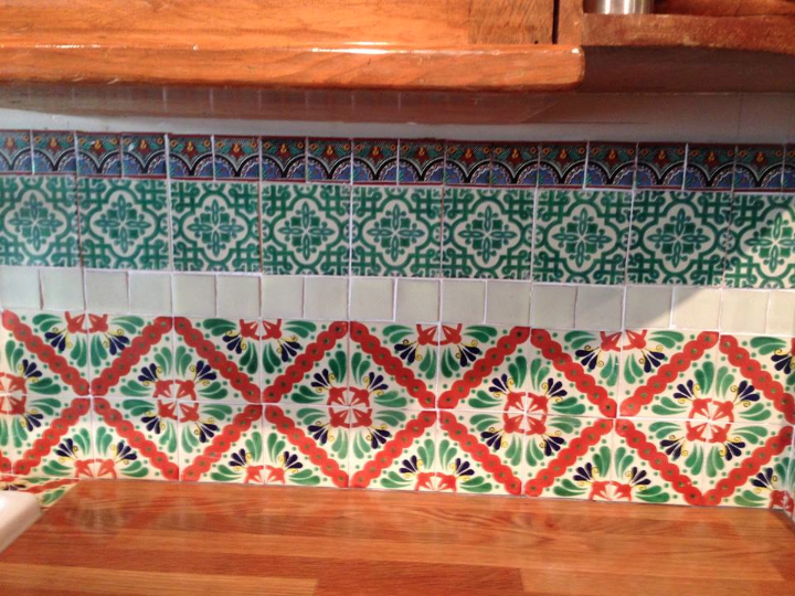 The tile splash back at Caoba Towers