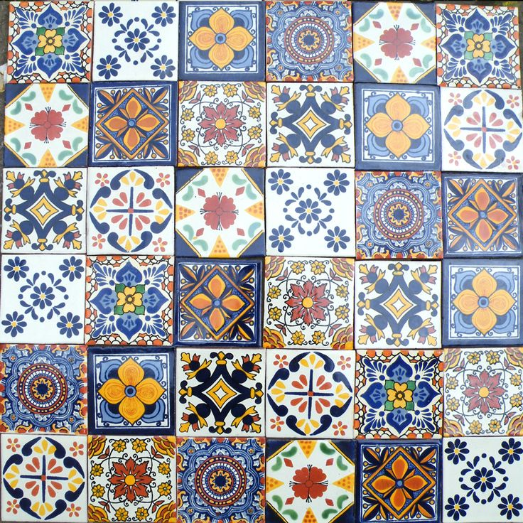 A patchwork of arabesque style tiles