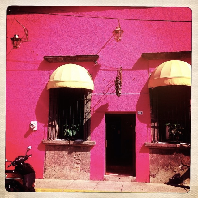 A very pink house