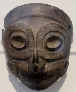 Slate mask of Tlaloc c. 900-1200 AD