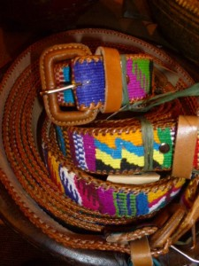 Leather and woven belts