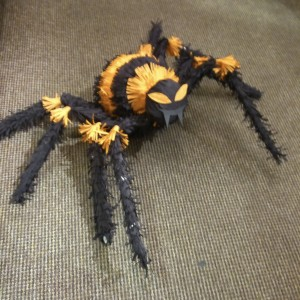 The finished spider....BOOO!