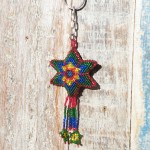 Beaded star key ring