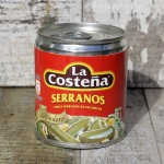 Tinned Serranos available from Caoba