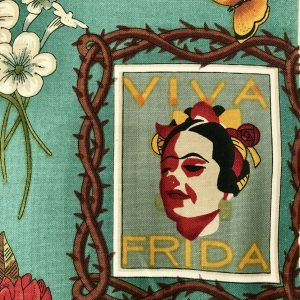 Viva Frida. Detail from the Alexander Henry fabric of the same name